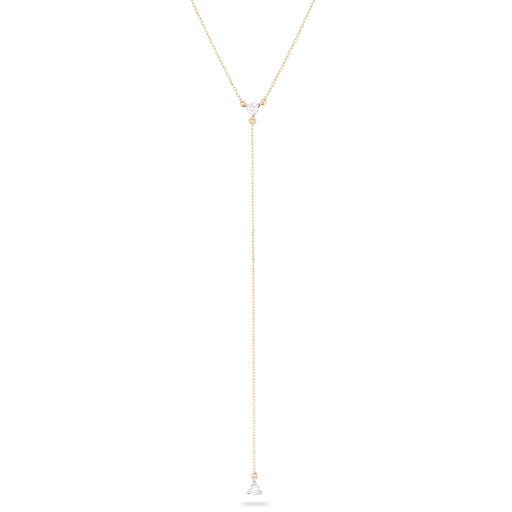 Single Diamond Lariat