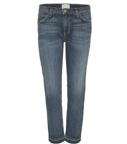 Cropped Straight Jeans w/ Let out Hem
