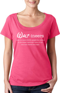 Waltineers - Womens Scoopneck T-Shirt [Defintion Logo]