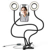 Flexible Studio Twin Ring Light w/ Smartphone holder