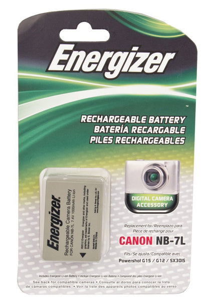 Energizer® ENB-C7L Digital Replacement Battery for Canon NB-7L