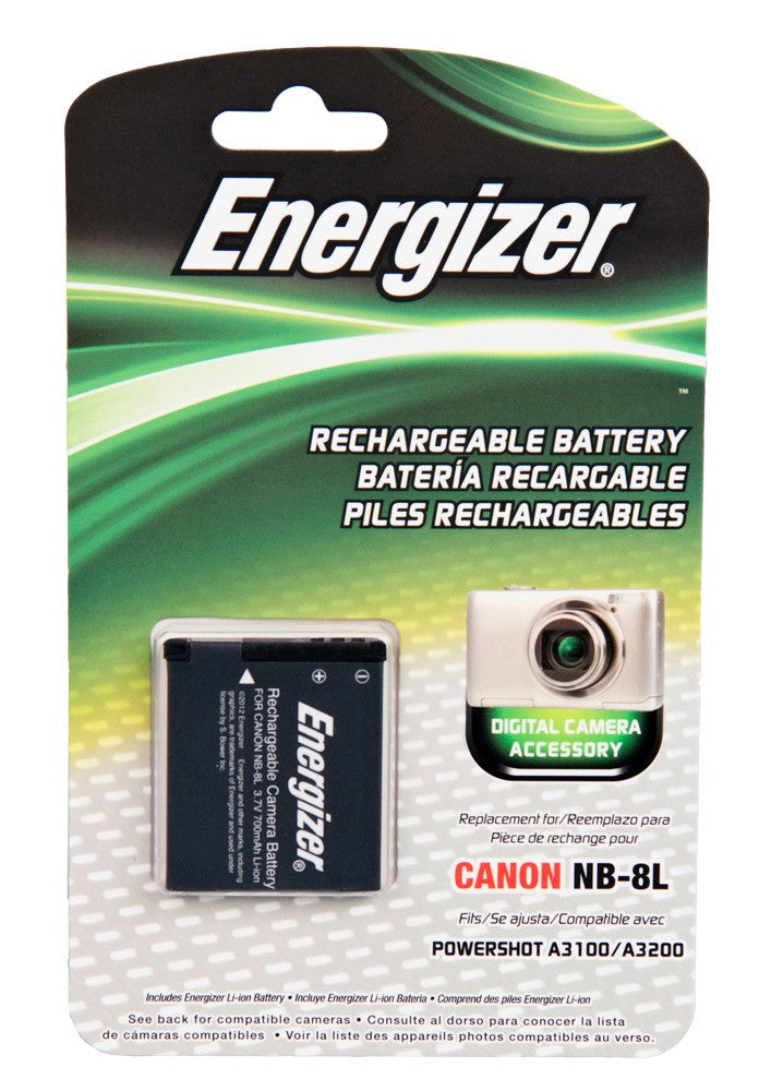 Energizer® ENB-C8L Digital Replacement Battery for Canon NB-8L