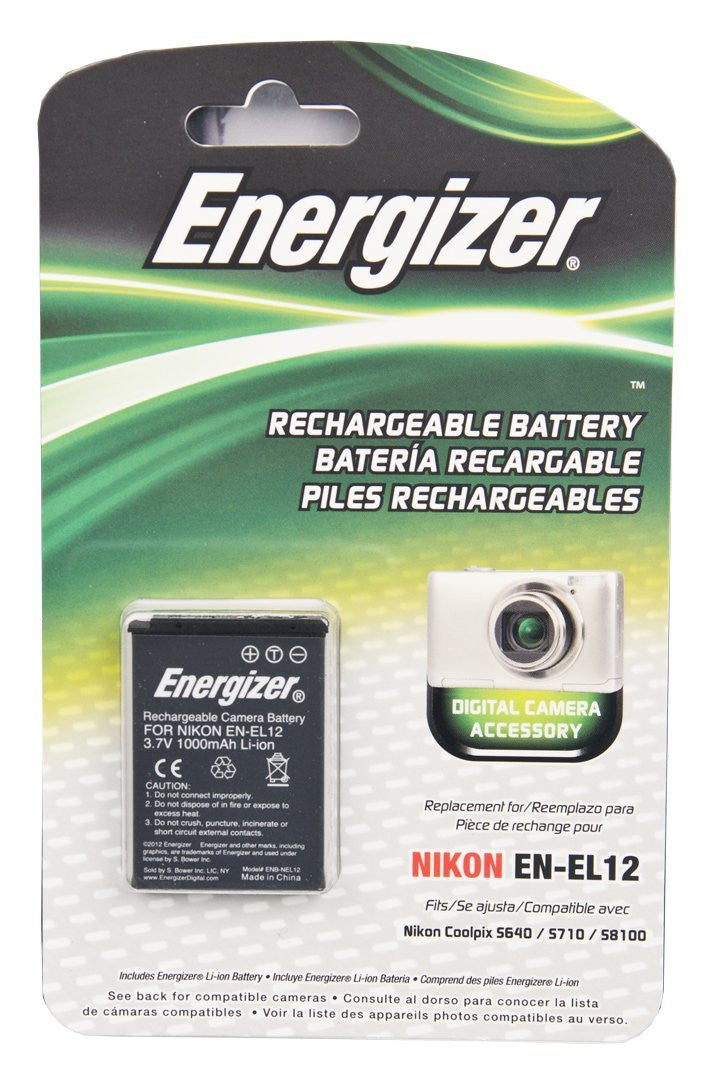 Energizer® ENB-NEL12 Digital Replacement Battery for Nikon EN-EL12