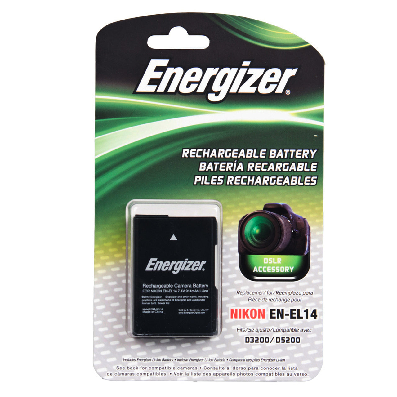 Energizer® ENB-NEL14 Digital Replacement Battery for Nikon EN-EL14