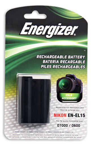 Energizer® ENB-NEL15 Digital Replacement Battery for Nikon EN-EL15