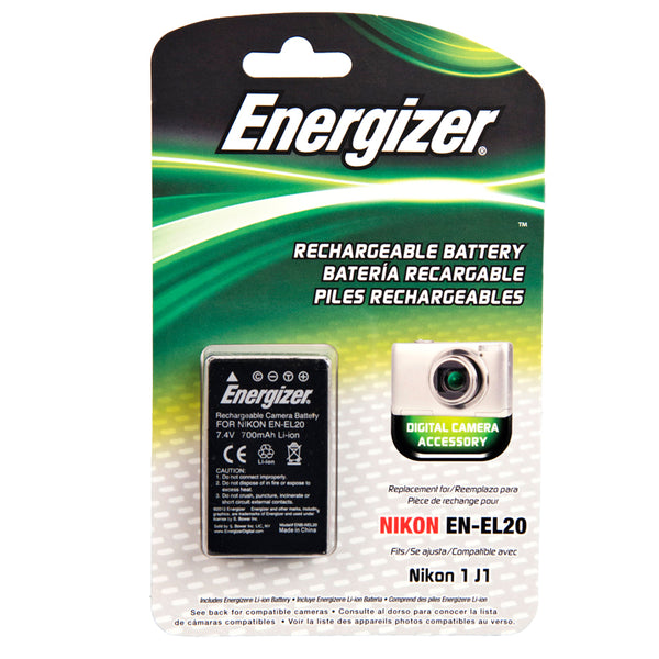 Energizer® ENB-NEL20 Digital Replacement Battery for Nikon EN-EL20