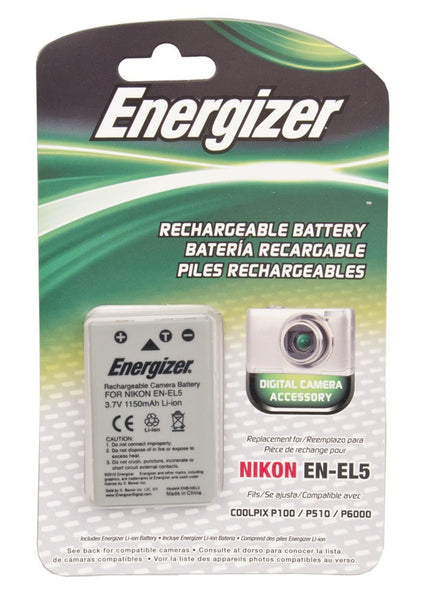 Energizer® ENB-NEL5 Digital Replacement Battery for Nikon EN-EL5