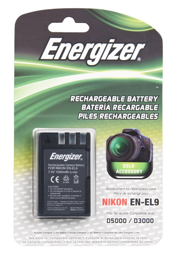 Energizer® ENB-NEL9 Digital Replacement Battery for Nikon EN-EL9