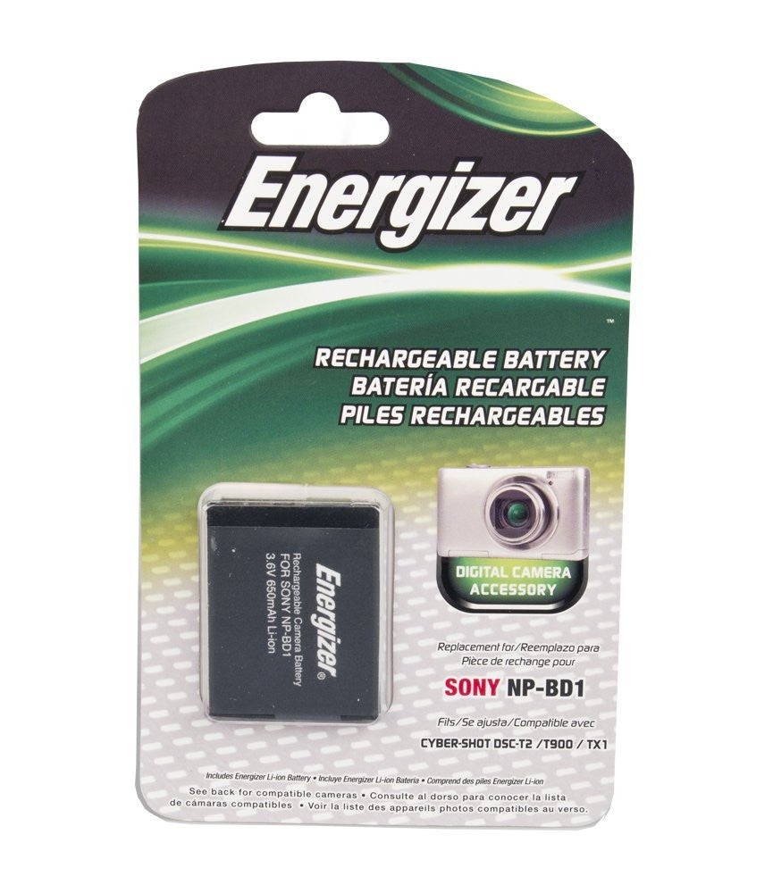 Energizer® ENB-SBD Digital Replacement Battery for Sony NP-BD1