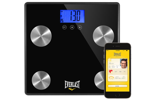 Everlast Health Digital Bluetooth Scales - BMI, BFI
