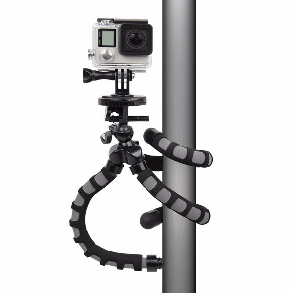 Bower Xtreme Action Series Flex Tripod for GoPro - Black/Grey