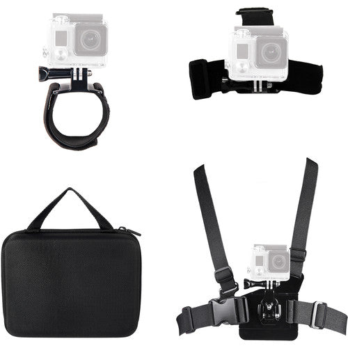 Xtreme Action Series 4-in-1 Action Mount Bundle for GoPro