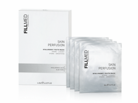 Fillmed - Skin Perfusion Hyaluronic Youth Mask 8 ml - Set da 4 maschere