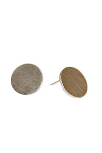 Matt Solid Earrings - Silver