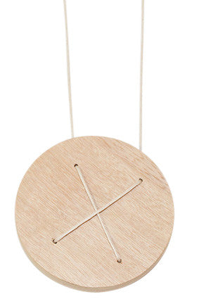 Fabrikate Wooden Circle Necklace - Small