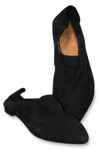 Italian Suede Turkish Shoe - Black