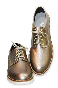 Phelan Lace-Up Oxford Shoe Gold