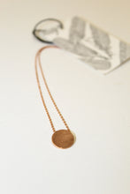 Rose Gold Circle Necklace