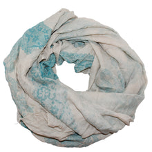 Bali Scarves - Cream with Turquoise