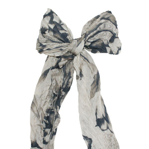 Italian Scarves Collection - Cream and Black