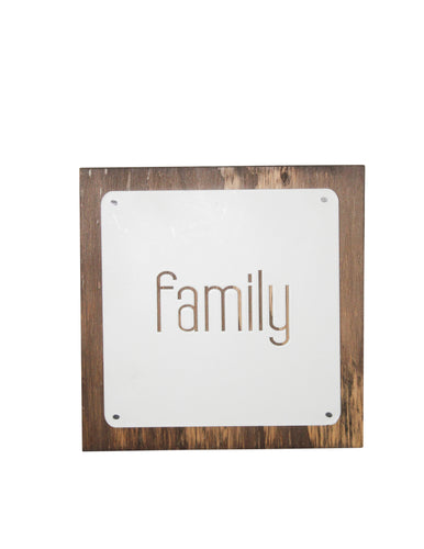 Family Wooden Wall Décor