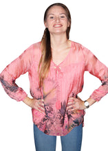 Italian Made Long Sleeve Silk Top