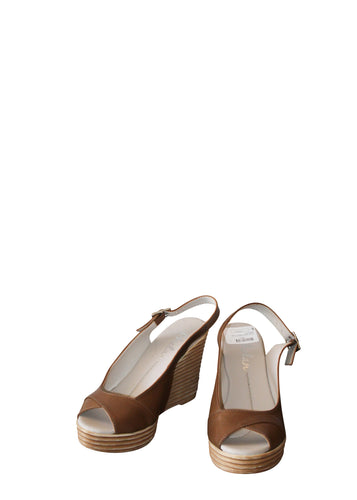 Phelan Peep Toe Cross - Brown
