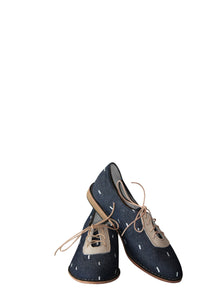 Matsidiso Xolani Stitch Shoe - Navy