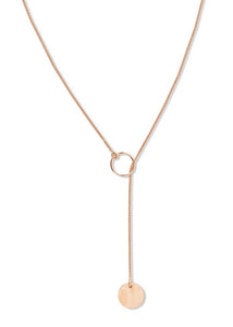Famke Sun And Moon Lariat - Rose Gold
