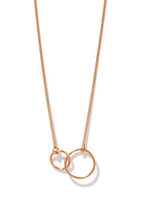 Famke Linked Circle Necklace - Rose Gold
