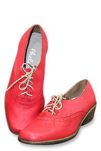 Phelan Red Lace-Up Boot