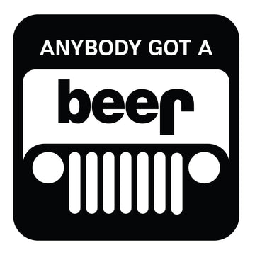 Jeep Got Beer Decal