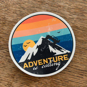 Adventure is Calling Jeep Decal