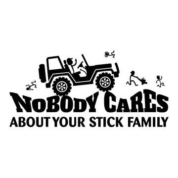 Nobody Cares Jeep Decal