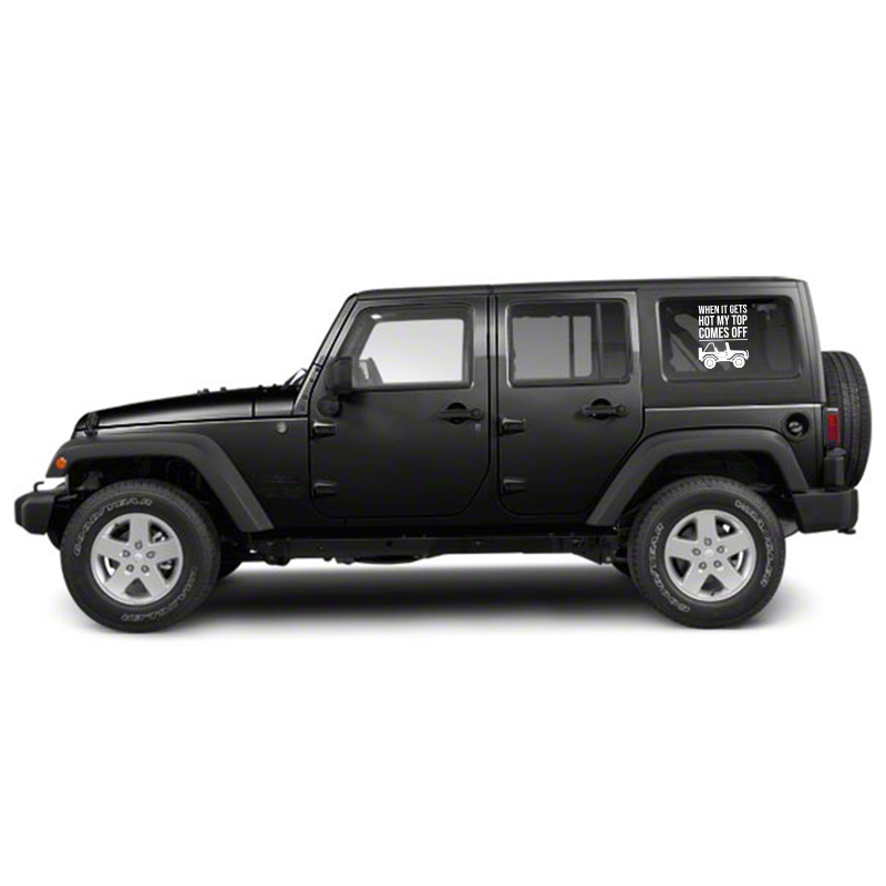 Top Comes Off Jeep Decal