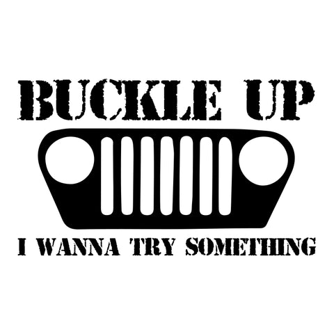 Buckle Up Jeep Decal