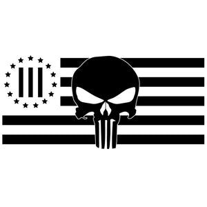 3 Percenter Punisher Flag