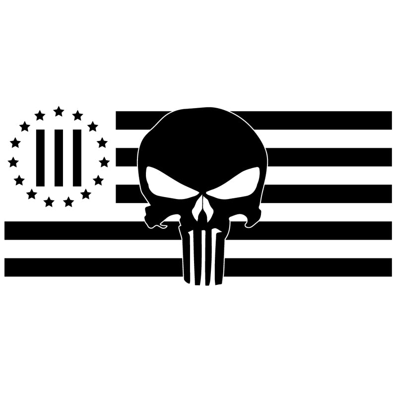 3 Percenter Punisher Flag Decal
