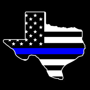 Texas Thin Blue Line Flag Decal
