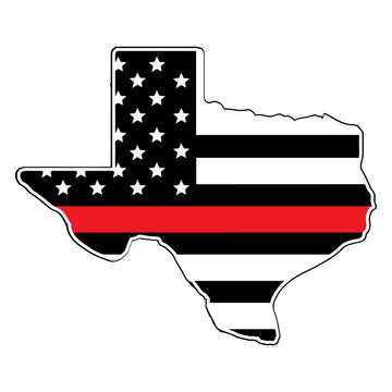 Texas Thin Red Line Flag Decal