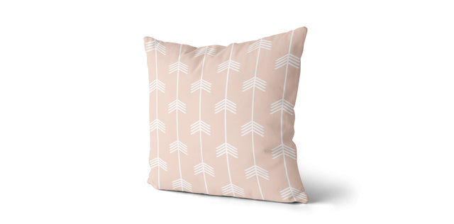 Coussin Chevrons couleur nude