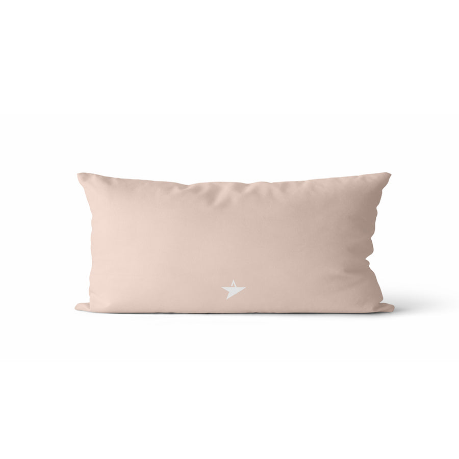 Coussin Flèches couleur nude