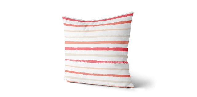 Coussin Rayures corail
