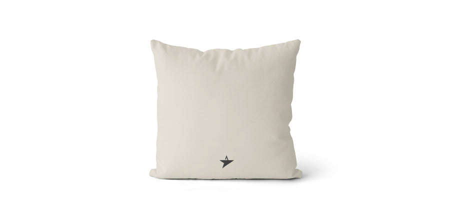 Coussin Seize every minute and make it count couleur beige