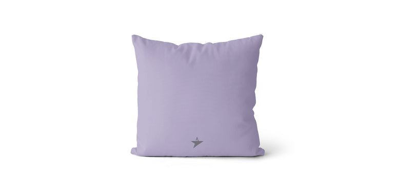 Coussin Seize every minute and make it count couleur lilas