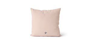 Coussin Seize every minute and make it count couleur nude