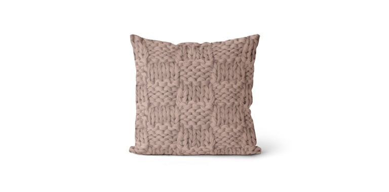 Coussin Effet tricot couleur nude