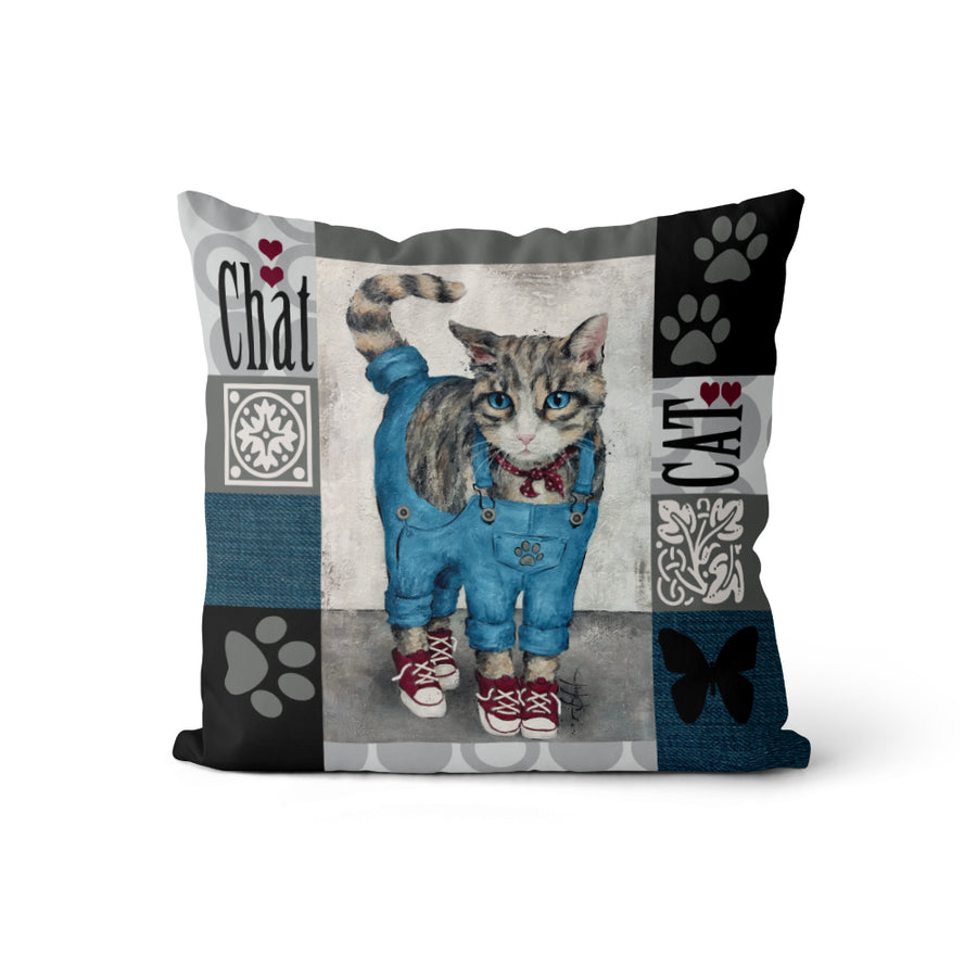 Coussin Chat! chat! chat!