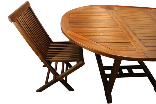 Ala Teak Wood indoor-outdoor Folding Teak Chair (Set of 2 ...