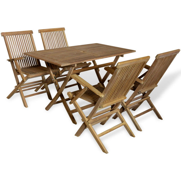 Outdoor Dining Set 5 Pieces Teak - ALA TEAK